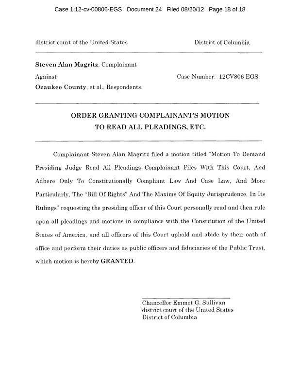 OzaukeeMOB.org, Bill Quia Timet; Clarify Jurisdiction; Unsigned ...