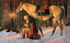 OzaukeeMOB.org, Ozaukee County, Wisconsin. George Washington, kneeling praying at Valley Forge.