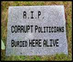 OzaukeeMOB.org, Ozaukee County, Wisconsin:  R.I.P. – corrupt politicians buried alive here. Corrupt county clerk Harold Dobberpuhl died before having to give an account of his dishonesty in public office.